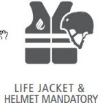lifejacket and helmet icon